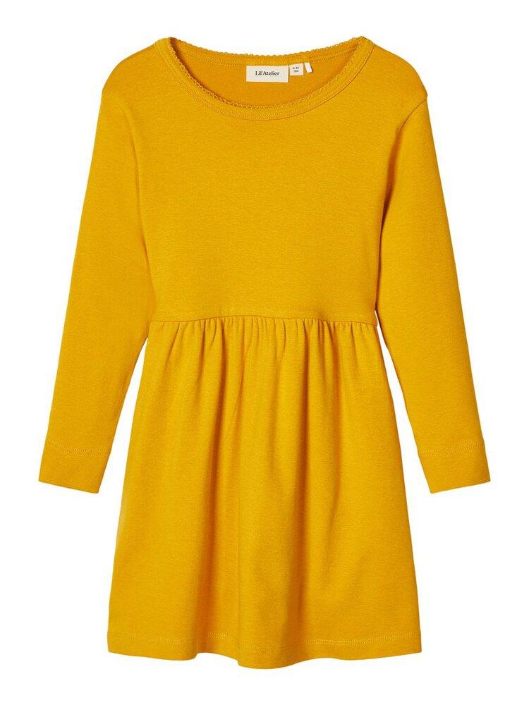 Image of   LIL ATELIER Gaya langærmet kjole - NUGGET GOL